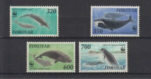 D. Fish - Marine Life Faroe Islands 203 - 6 Whales And Dolphins Wwf (MNH)