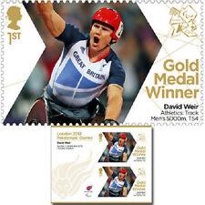 UK ParalympicsGB Gold Medal Winner Miniature Sheet - David Weir Men's 5000m MNH