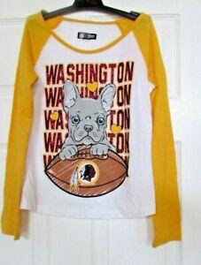 Girls/boys NFL Team Apparel Washington Redskins long sleeve top blouse 8/10