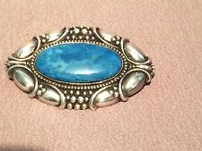 Jugendstil/ Silberbrosche/ 800 Silber/blauer Stein um 1910
