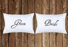 Bride & Groom Pillowcase Wedding Engagement Anniversary Cool Couple Personalized