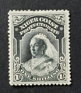 Niger Coast 1894 QV 1/- SG56a MH/HR Slight Thin