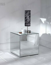 Mirror safety Glass Cube Table furniture exhibition shows foldable Display
