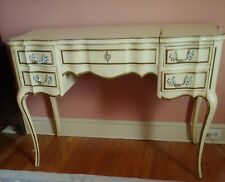 Vintage French Provential 4-Drawer Mirror Vanity