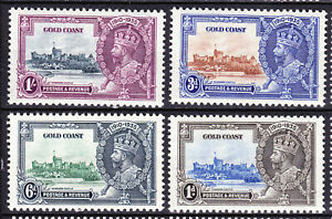 Gold Coast-1935 KGV Silver Jubilee Set. Very fresh MM.