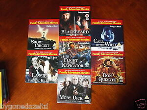 FAMILY ADVENTURE MOVIES - A SELECTION OF 7 PROMO DVDs  FREE UK POST