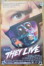 THEY LIVE (1988) ORIGINAL MOVIE POSTER  -  ROLLED  -  RARE WILD POSTING OVERSIZE