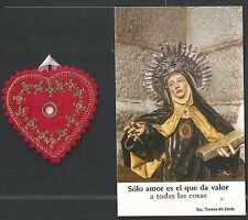 2 Holy card relics antique de Santa Teresa estampa santino image pieuse