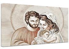 Quadro moderno Sacra Famiglia F Capezzale Arredamento Casa Arte Stampa su tela