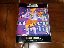 Cleveland Crunch NPSL 2000/2001 SIGNED Game Program Hector Marinaro Otto Orf etc