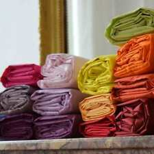DRAP HOUSSE 100% COTON SUPÉRIEUR - 2 PERSONNES - 160X200cm - coloris au choix -