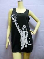FREDDIE MERCURY Black Singlet, QUEEN Glam ROCK, Cotton Mini TANK TOP T-shirt NEW