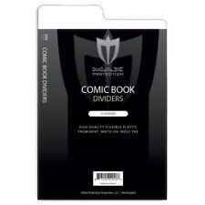 Lot of 50 Max Pro Tabbed White Plastic Comic Book Box Dividers - 7 1/4 X 10 3/4