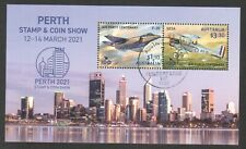 AUSTRALIA 2021 PERTH STAMP SHOW (RAAF CENTENARY) SOUVENIR SHEET OF 2 STAMPS USED