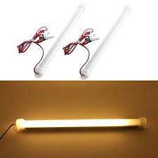 2X Warm white 5630 18LED Car LED SMD Interior Light Bar Tube Strip Lamp Boat 12V