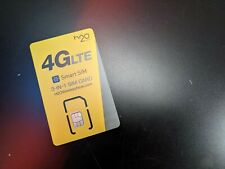h2o Smart Sim Starter Kit 3-in-1 Gsm Sim Card Yellow, Grey, Credit Card Sized