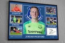 Jordan Pickford Everton Framed A4 Canvas Tribute Print Signed