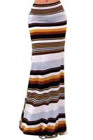 Women's Maxi Skirt Trendy Striped Print Soft And Comfortable