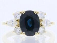 IGI Expertise Ring Brillanten Diamanten Saphir 750 Gold 18 Karat neu