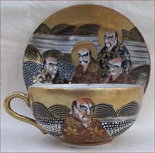GioKusei Cup Saucer Gilt Hand Painted Seto Nagoya Porcelain Japan Early 20th C