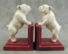 PAIR OF ENGLISH BULLDOG Cast Iron HEAVY BOOKENDS Book Ends