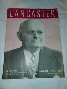 Vintage 1952 Lancaster PA Magazine Local Advertising TV Radio Retail Horses old