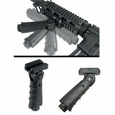 Tactical Folding 5 Position Grip Black Vertical Foregrip For Picatinny Rail