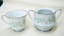 NORITAKE JAPAN PATTERN SAVANNAH #2031 WHITE FOTTED TEA CUP  & SUGAR BOWL NO LID