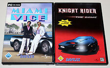 2 PC Giochi Set-Miami vice & Knight Rider - 80ies culto 80er THE GAME DVD