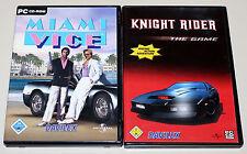 2 PC Giochi Set-Miami vice & Knight Rider - 80ies culto 80er THE GAME DVD