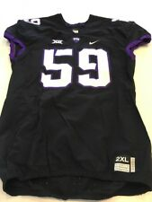 Game Worn Used Nike TCU Horned Frogs Football Jersey #59 Size XXL