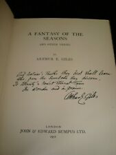Fantasy Of The Seasons by A.E. Giles Poetry Signed & Inscribed 1st