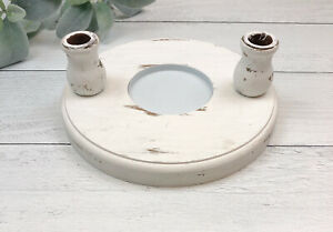 Studio His & Her Unity Candle Stand Rustic Farmhouse Wedding Prop Decorations