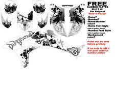 DFR FOLD GRAPHIC KIT WHITE SIDES/FENDERS 04-05 HONDA TRX450R TRX 450