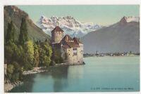 Switzerland, Chillon et la Dent du Midi, J.J. 3 F Postcard, B361