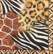 2 single paper napkin decoupage collection Africa Skin Fur Tiger Zebra Leopard