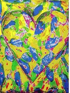 "Jim Dine       ""Blue Heart""     Lithograph             BA   MAKE OFFER"