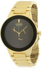 Citizen Eco-Drive Axiom Gold-Tone Chronograph Mens Watch AT2242-55E