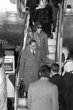 8x10 Print Jackie Kennedy Christina Onassis Departing Aircraft 1968 #JK54