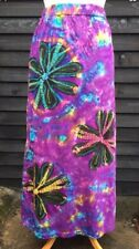 Gringo Fair-trade XL Large 12 14 16 hippy Festival Tie-dye Purple Cotton Skirt