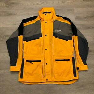 Boulder Gear XO Mens Yellow/Gray Ski Winter Snow Jacket Nylon Size Large