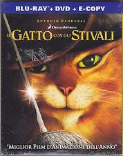 Blu-ray + Dvd DreamWorks **IL GATTO CON GLI STIVALI** nuovo Slipcase 2011