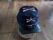 Indian Wars Civil War Kepi 7th Cavalry Cap Hat Blue Wool Crossed Swords Union