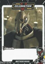 Matthew Wood Official Pix Star Wars Autograph Trading Card Celebration V Exc