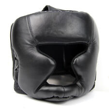 Black Good Headgear Head Guard Training Helmet Kick Boxing Protection Gear DT