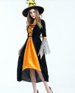 Women Scary Witch Costumes Adult Sorceress Cosplay Costume For Halloween
