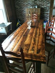 Farm House Dining Room Table - Traditional Harvest Table Style - Handmade