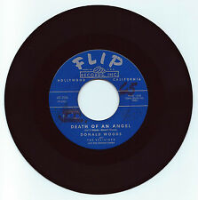 DOO WOP 45 DONALD WOODSVEL-AIRES DEATH OF AN ANGEL ON FLIP  STRONG VG ORIG