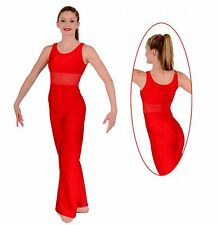 NWT Pumpers Shiny Red Sleeveless Long Leg Unitard Costume     Adult S