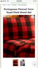Vermont Country Store Portuguese Flannel Queen Sheets